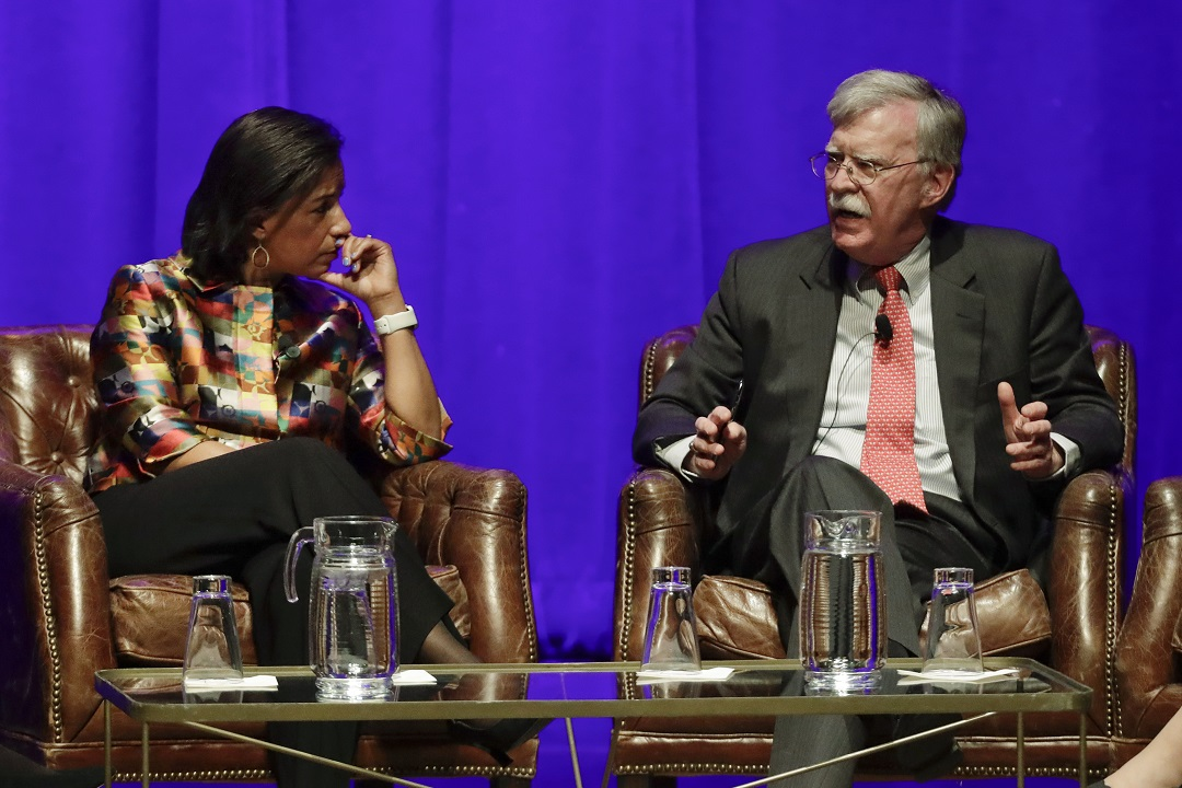 Westlake Legal Group AP20051068087958 John Bolton pressed by Susan Rice on impeachment testimony at Vanderbilt event Louis Casiano fox-news/us/us-regions/southeast/tennessee fox-news/politics/trump-impeachment-inquiry fox-news/politics/executive/national-security fox-news/person/donald-trump fox news fnc/politics fnc article 7a467b21-6bc4-5e12-aa08-15f326458fd4