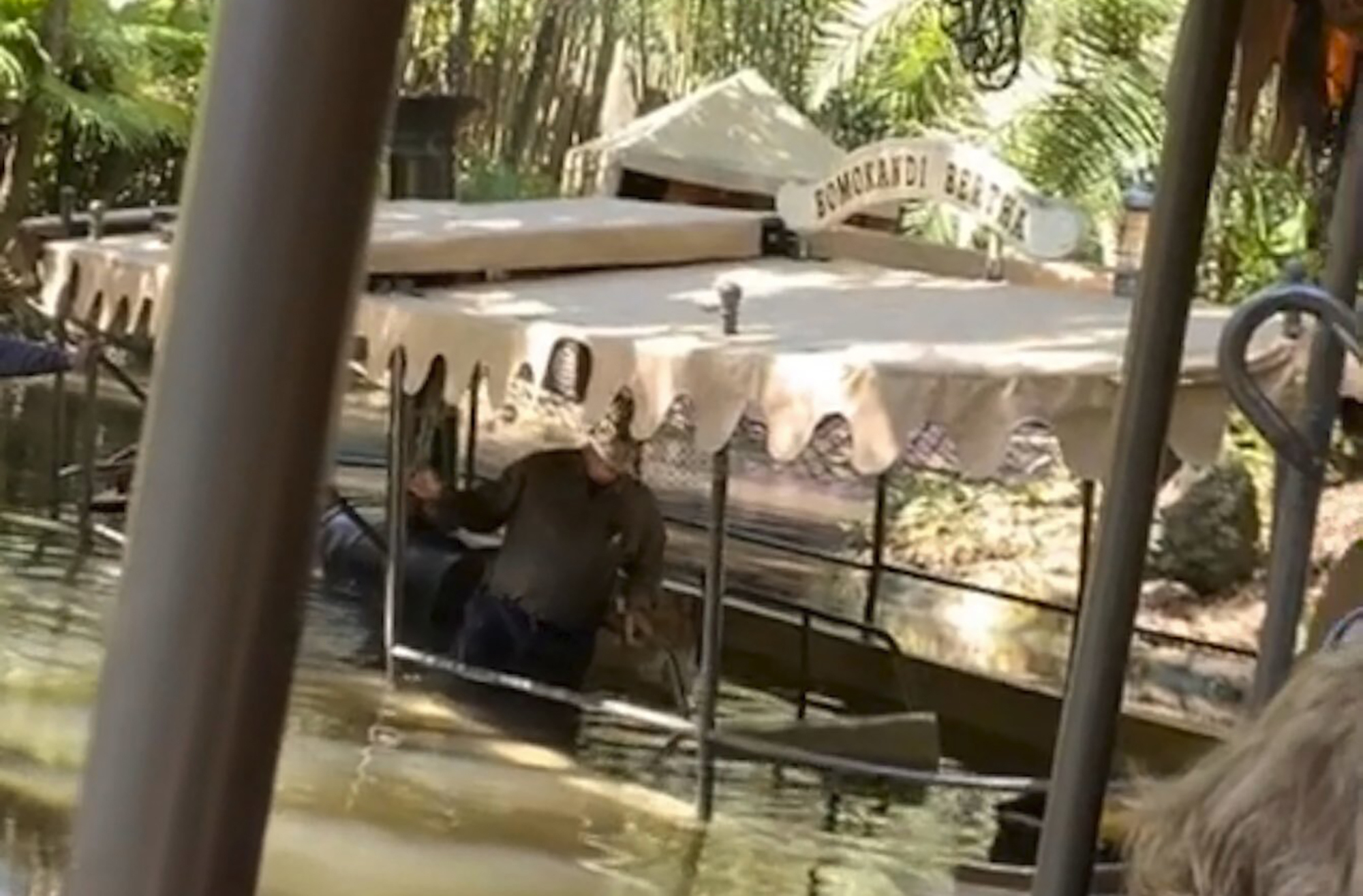 Boat at Disney World's Jungle Cruise sinks during ride; guests filmed being rescued by staff