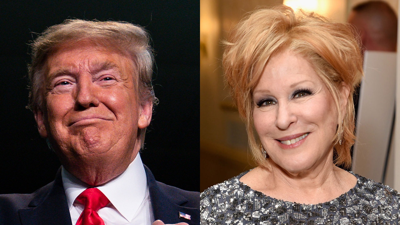 Westlake Legal Group Bette-Midler-Trump-split Bette Midler slams Trump over Oscar remarks: 'I'm more upset that a parasite won the White House' Louis Casiano fox-news/us/us-regions/west/colorado fox-news/person/donald-trump fox-news/person/bette-midler fox-news/columns/oscars fox news fnc/entertainment fnc article 79588f2c-6fce-5213-b2a1-c57ba07b93ed