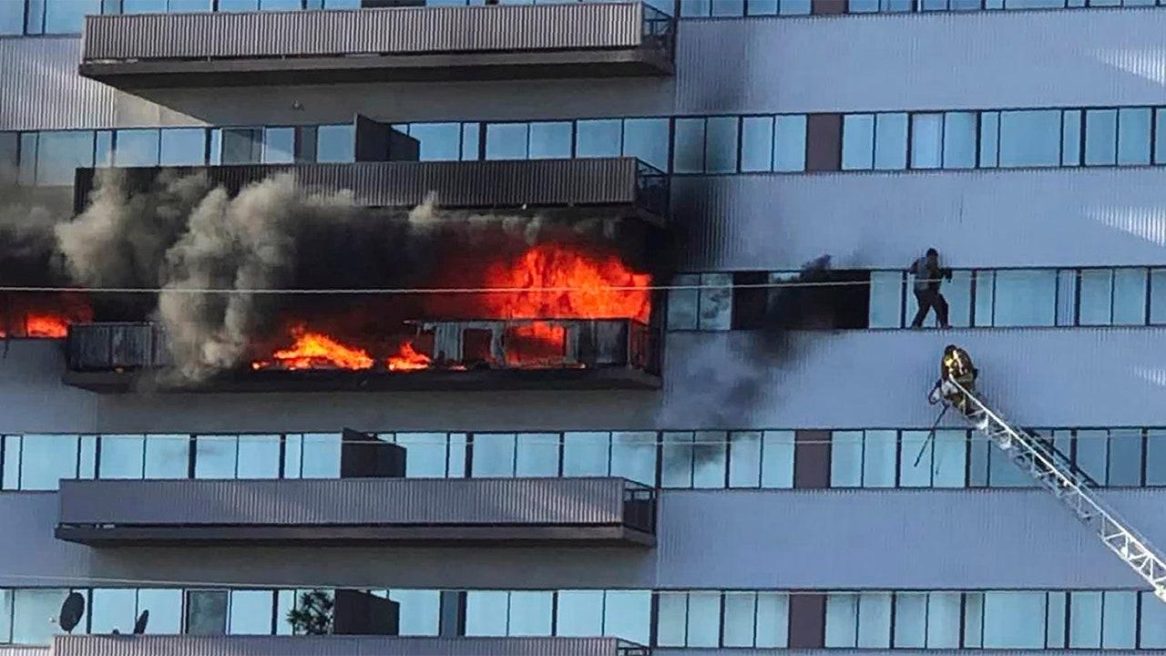 フランスの外交換留学生死傷後、ロサンゼルスの高層火