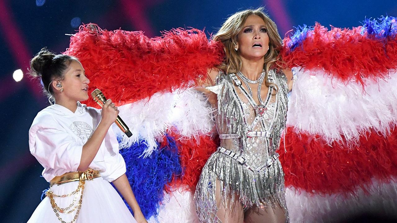 Jennifer Lopez's daughter Emme joins her for Super Bowl LIV halftime show