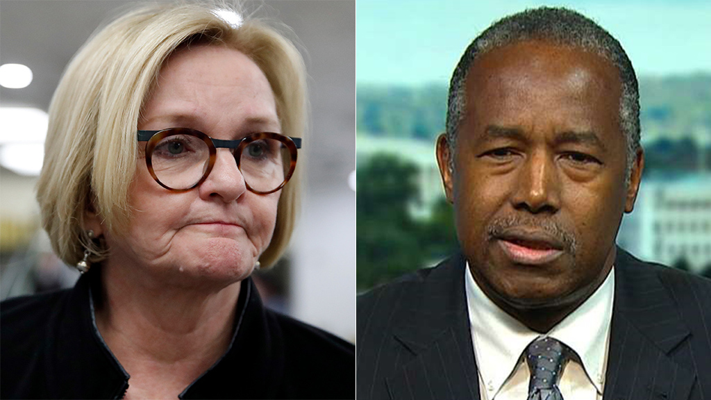 Westlake Legal Group McCaskill-Ben-Carson Claire McCaskill faces racism accusations after singling out Ben Carson in photo of Trump surrogates Sam Dorman fox-news/politics/senate/democrats fox-news/politics/executive/cabinet fox-news/media fox news fnc/media fnc f250fcb0-61e4-5006-b392-6806127b0e3d article