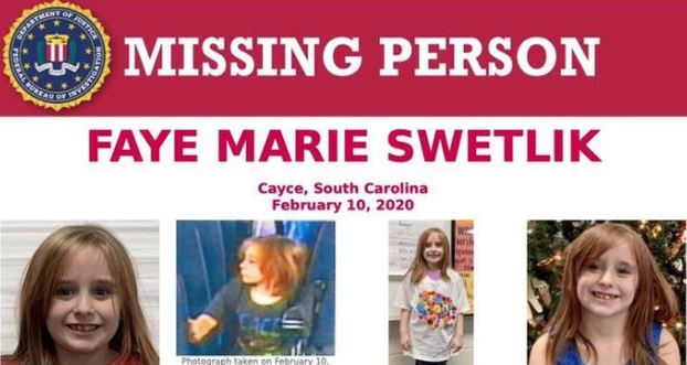 Westlake Legal Group Missing-Girl Faye Marie Swetlik: Video of missing South Carolina girl getting off school bus released fox-news/us/us-regions/southeast/south-carolina fox-news/topic/missing-persons fox news fnc/us fnc Bradford Betz article 70de5530-c569-5c4f-9c2b-a10cbe0fc8ee