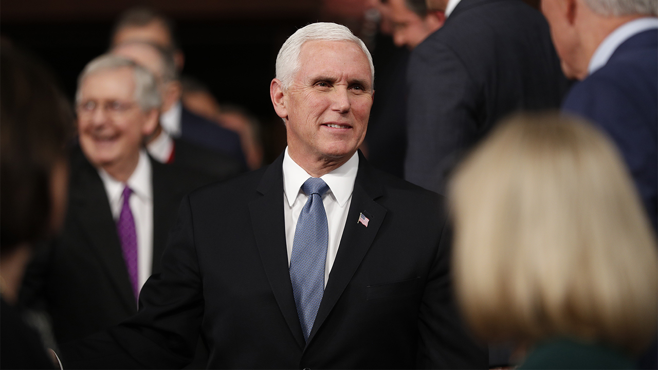 Westlake Legal Group Pence-SOTU-2019-AP Pence at National Prayer Breakfast: 'Prayer and faith are the thread' fox-news/us/religion/christianity fox-news/us/religion fox-news/person/mike-pence fox-news/person/donald-trump fox-news/faith-values/faith fox news fnc/politics fnc Caleb Parke article 6f1fcd7a-7ef8-5b32-a69d-f3ffaa24cf27