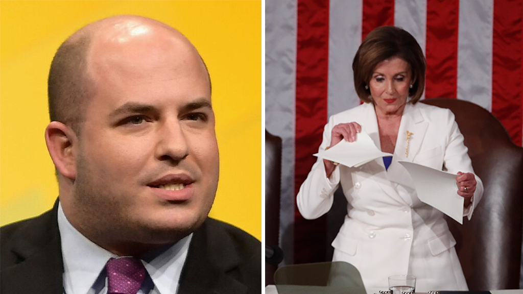 Westlake Legal Group Stelter-Pelosi-Rip-Speech-Getty CNN's Brian Stelter praises Pelosi for ripping page from Trump's 'playbook' at State of the Union Joseph Wulfsohn fox-news/person/nancy-pelosi fox-news/person/donald-trump fox-news/news-events/state-of-the-union fox-news/media fox news fnc/media fnc article 0a0bba71-c655-5265-a160-1de4dff3c538
