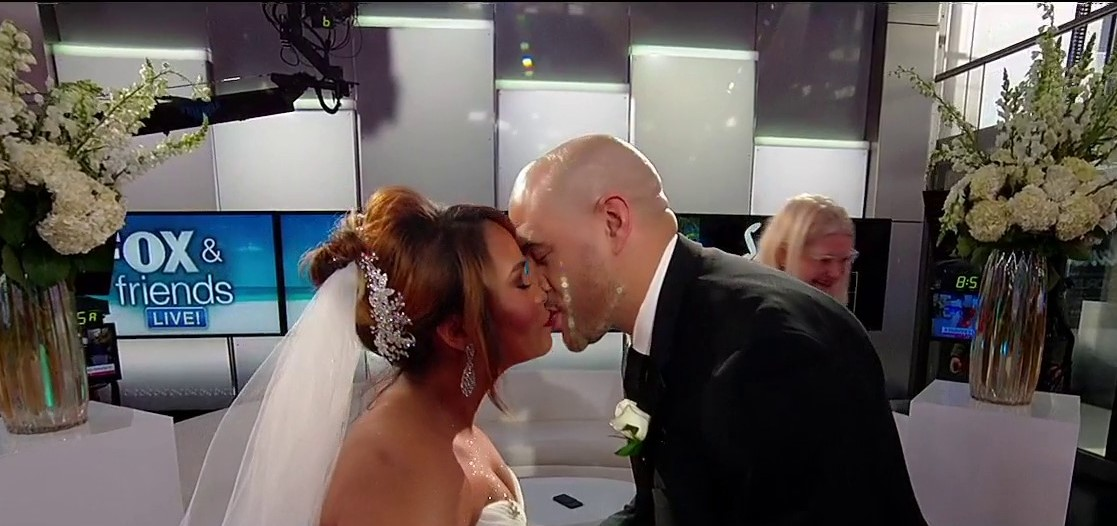 'Fox & Friends' wedding: Army veteran and fiance get hitched on Valentine's Day