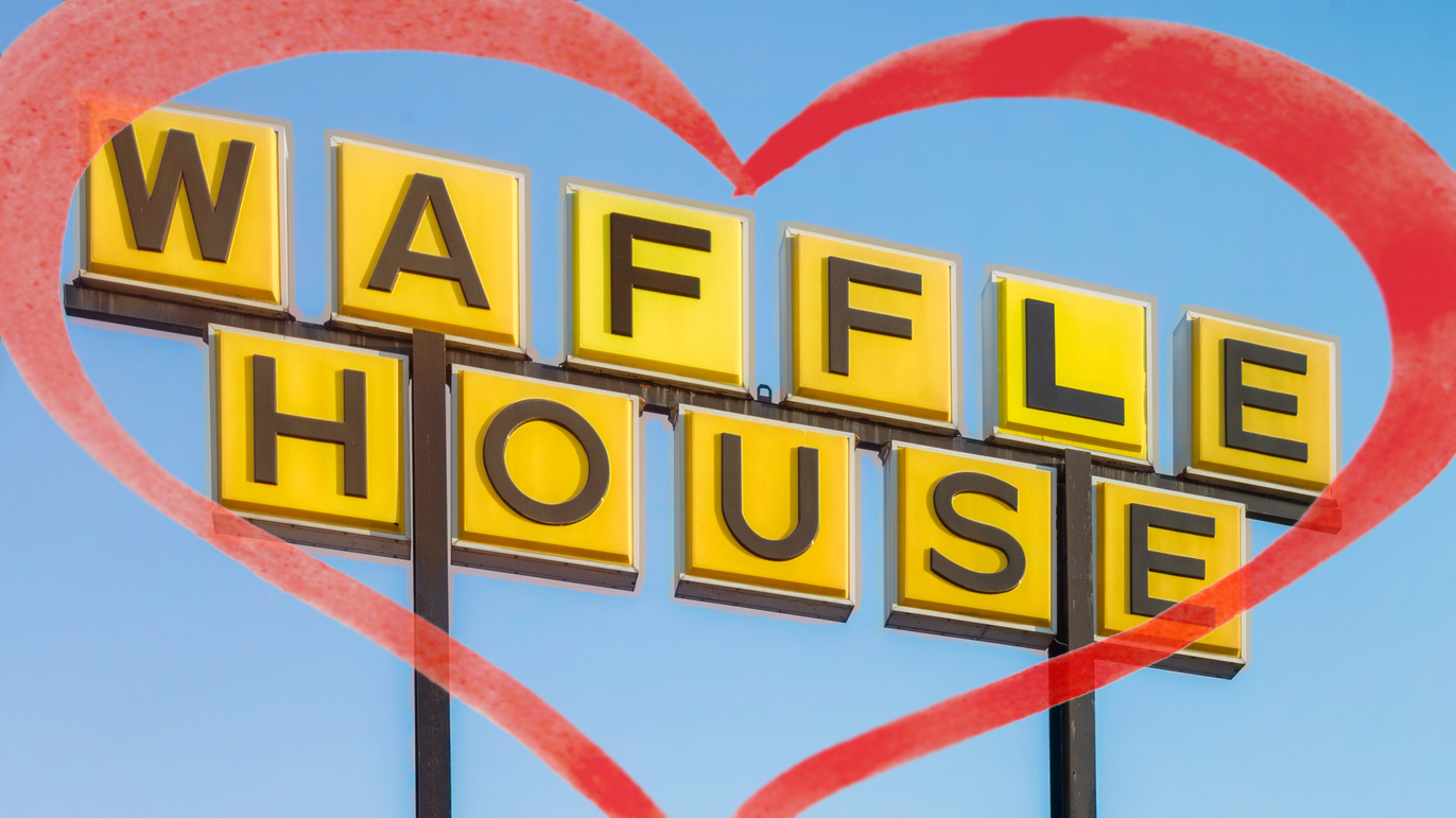 Westlake Legal Group WaffleHouseSignHeartIstocks Waffle House on Valentine's Day: How the chain established itself as a romantic roadside destination Michael Bartiromo fox-news/food-drink/food/restaurants fox-news/food-drink fox news fnc/food-drink fnc article 3afd267c-0429-59e4-ac02-ee88d846ad58 /FOX NEWS/LIFESTYLE/OCCASIONS/Holiday