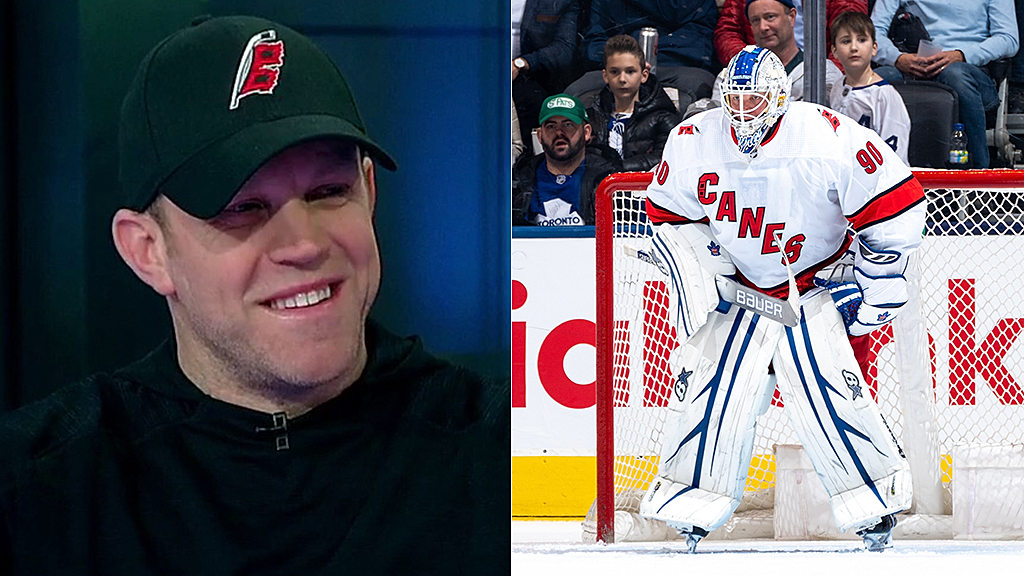 Zamboni driver wins NHL debut as Hurricanes' emergency goalie: I was thinking 'don't embarrass yourself'