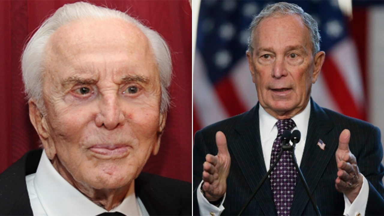 Michael Douglas says dad Kirk backed Mike Bloomberg for president before death