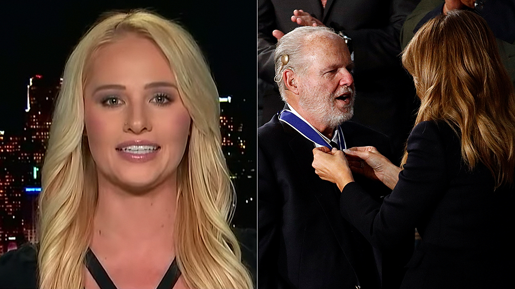 Westlake Legal Group lahren-limbaugh-FOX-AP Tomi Lahren on 'beautiful moment' Rush Limbaugh received Medal of Freedom: 'He charted a path' Matt London fox-news/topic/fox-nation-opinion fox-news/opinion fox-news/news-events/state-of-the-union fox-news/fox-nation fox news fnc/media fnc article 0ee8e693-512f-543f-9c54-dc4c7ff92d90