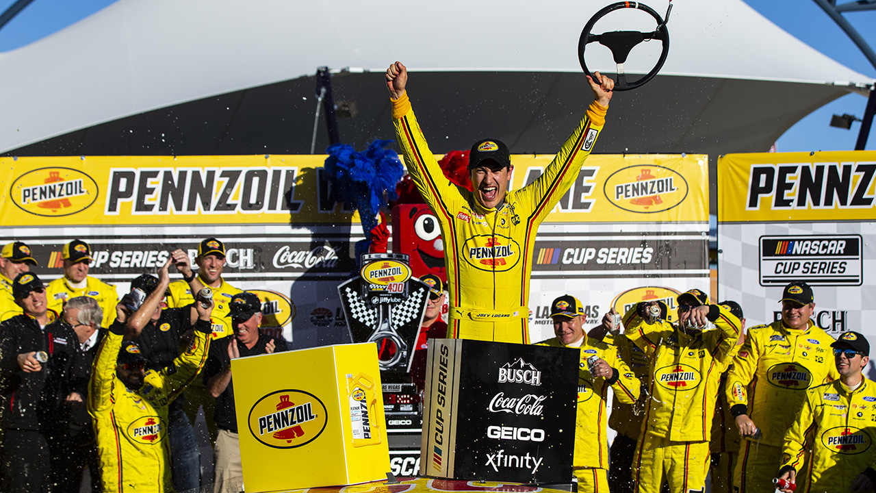 Joey Logano repeats at NASCAR Las Vegas race