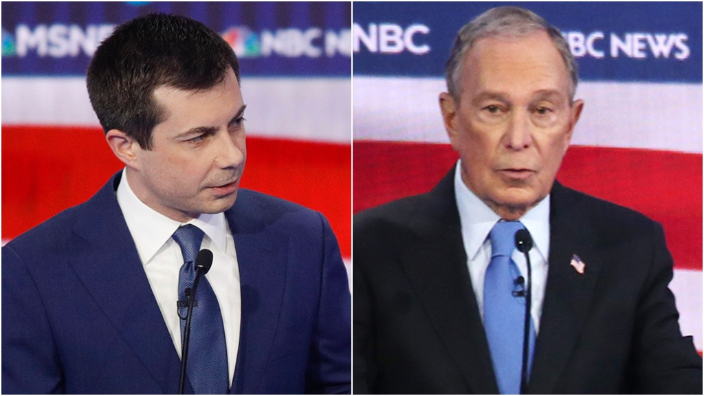 Buttigieg suggests that maybe Bloomberg should step aside...