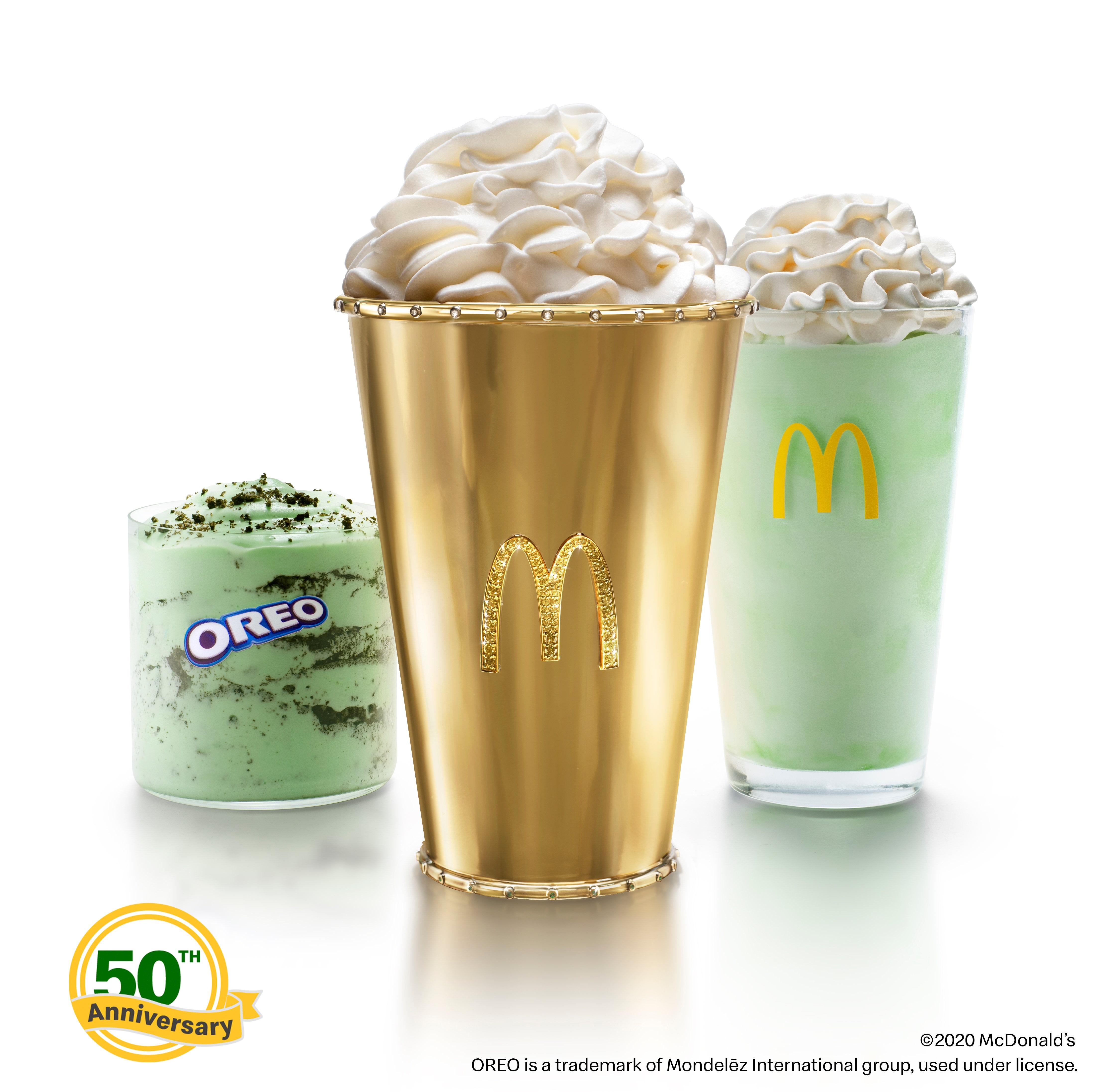 McDonald ' s-Versteigerung $90G Golden Shamrock Shake auf eBay für charity