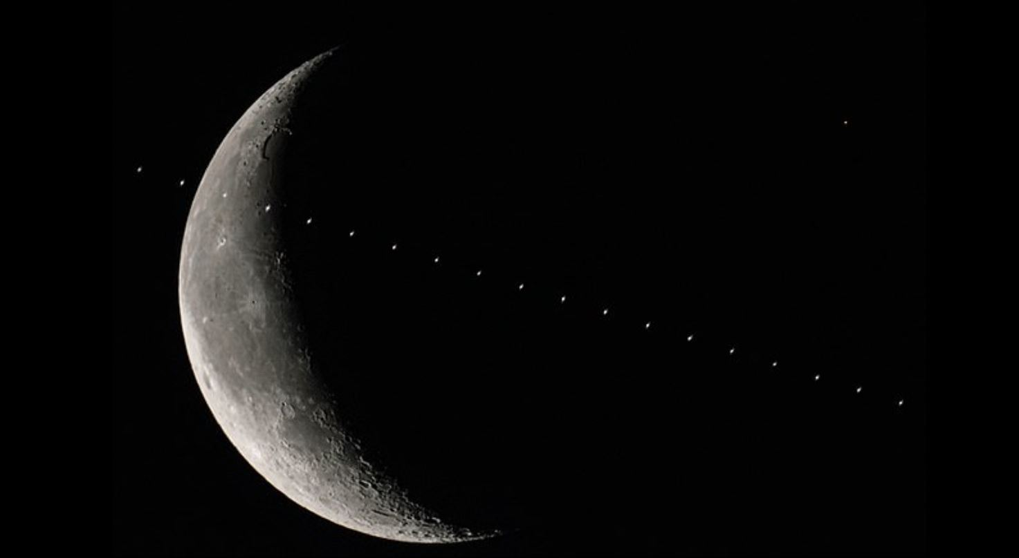 Epic NASA photograph shows International Space Station crossing the moon