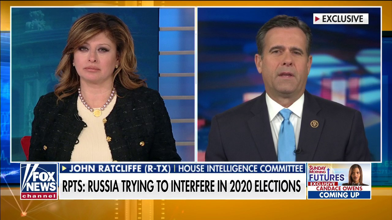 Westlake Legal Group ratcliffe-use Rep. Ratcliffe on Russia reportedly trying to interfere with 2020 election: Dems 'leaked information that's not accurate' Talia Kaplan fox-news/shows/sunday-morning-futures fox-news/media/fox-news-flash fox news fnc/media fnc article 24e79152-996f-590f-98aa-8309a991eec6