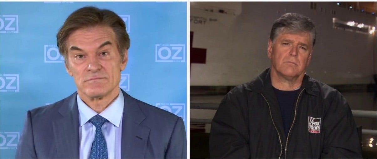 Dr. Oz nennt NYC coronavirus Katastrophe 'warnendes Beispiel': 'Wir haben unser bestes getan. Wir waren zu spät'