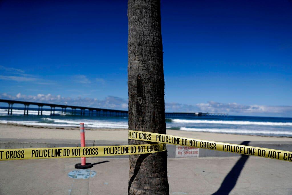 Eerie drone footage shows deserted California on coronavirus lockdown