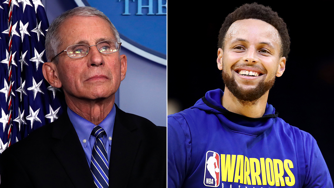 Westlake Legal Group Fauci-Curry Dr. Fauci, Stephen Curry discuss sports' return after coronavirus outbreak Ryan Gaydos fox-news/sports/nba/golden-state-warriors fox-news/sports/nba fox-news/person/stephen-curry fox-news/person/anthony-fauci fox news fnc/sports fnc c8f292a7-43fb-54ba-af19-ed61304fee50 article
