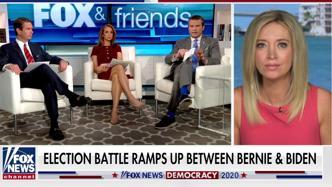 Westlake Legal Group McEneny Kayleigh McEnany: Biden 'can't survive' debate with Sanders or Trump Talia Kaplan fox-news/topic/fox-news-flash fox-news/shows/fox-friends-weekend fox-news/politics/elections/presidential-primaries fox-news/politics/elections/presidential fox-news/politics/elections/campaigning/trump-2020-campaign fox-news/politics/elections/campaigning fox-news/person/joe-biden fox-news/person/bernie-sanders fox news fnc/media fnc article 5172be87-c685-5445-a91d-1b80e1b24a61