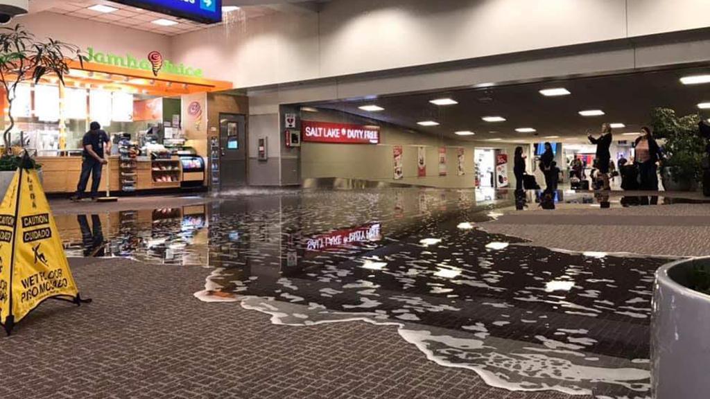 Salt Lake City airport evakuiert, halte Operationen nach magnitude 5.7 Erdbeben