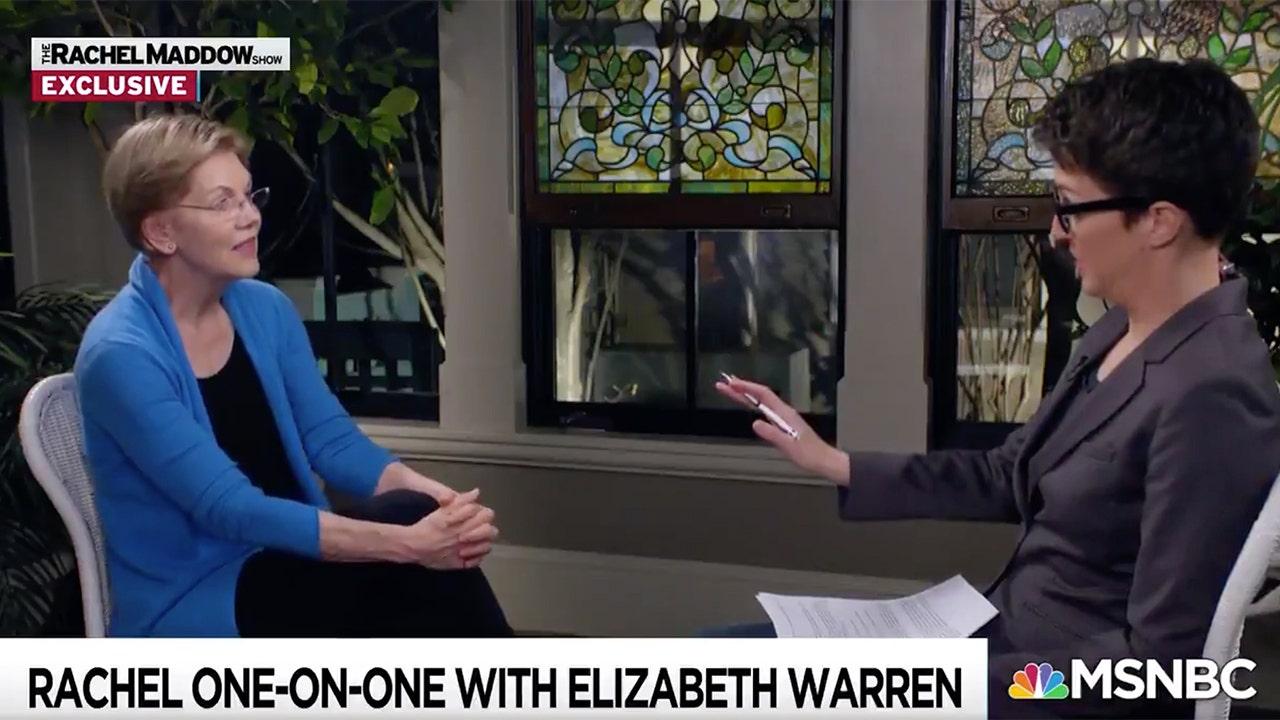 MSNBCのレイチェル-MaddowれWarren2020年までの彼女の口には