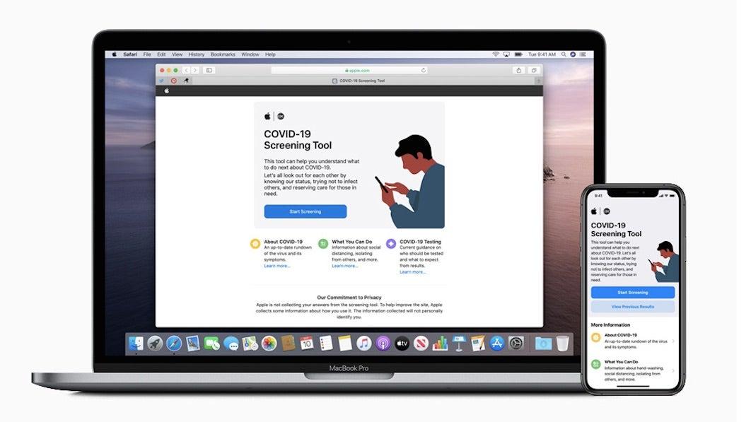 Apple kündigt neue coronavirus app und website