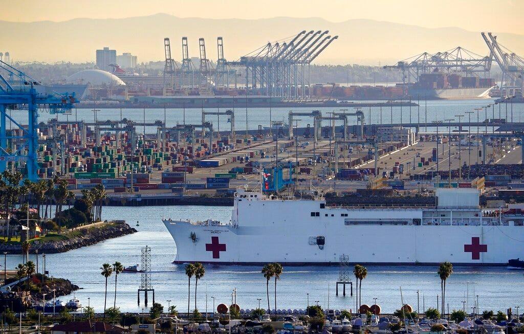 California engineer derails train over suspicion about coronavirus aid ship USNS Mercy, feds say