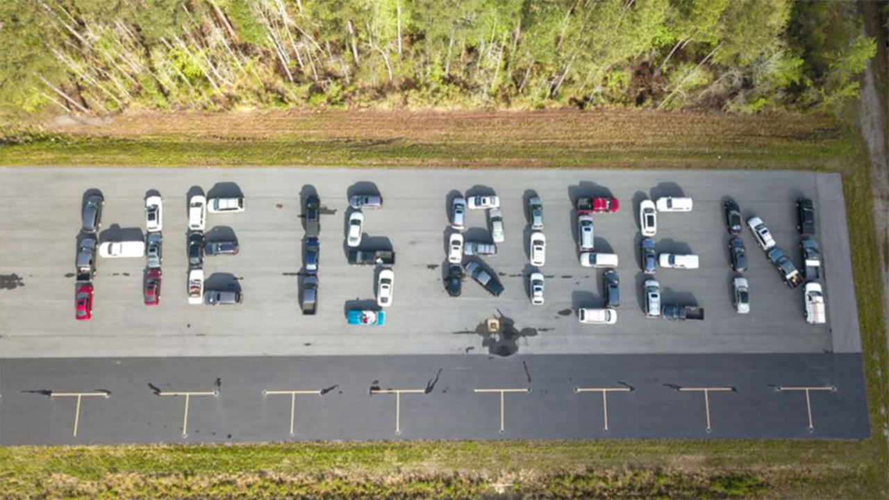 Virginia cars line up just right to 'share love' with special Easter message - fox
