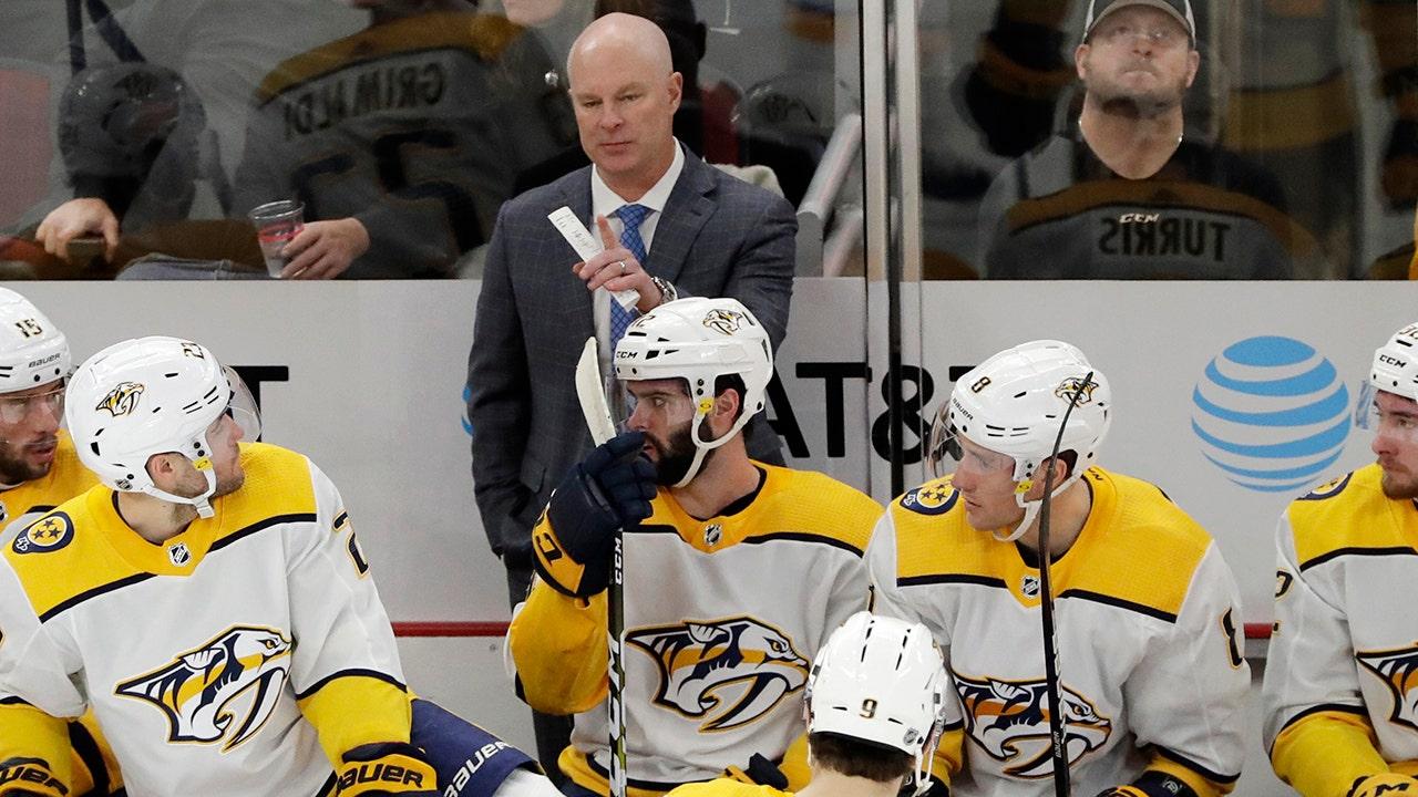Pelatih baru menggunakan NHL penghentian studi atas nya Predator