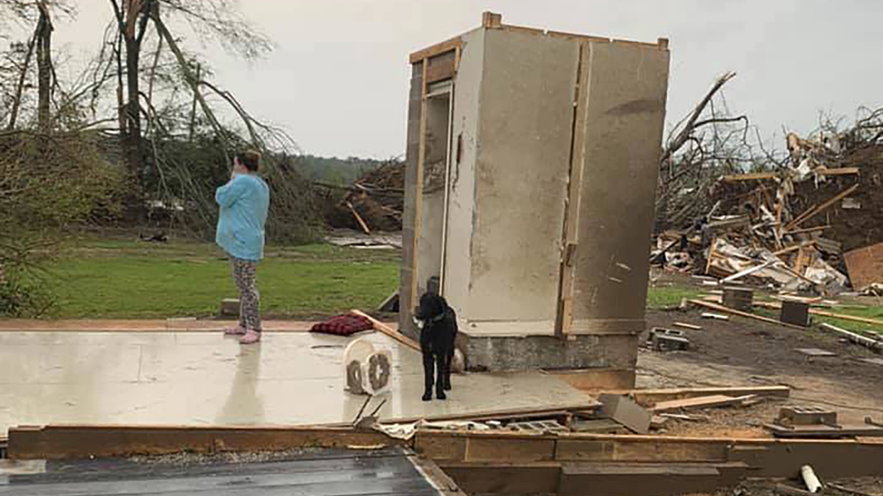 Mississippi family survives tornado inside concrete safe room as storm destroys 'everything'