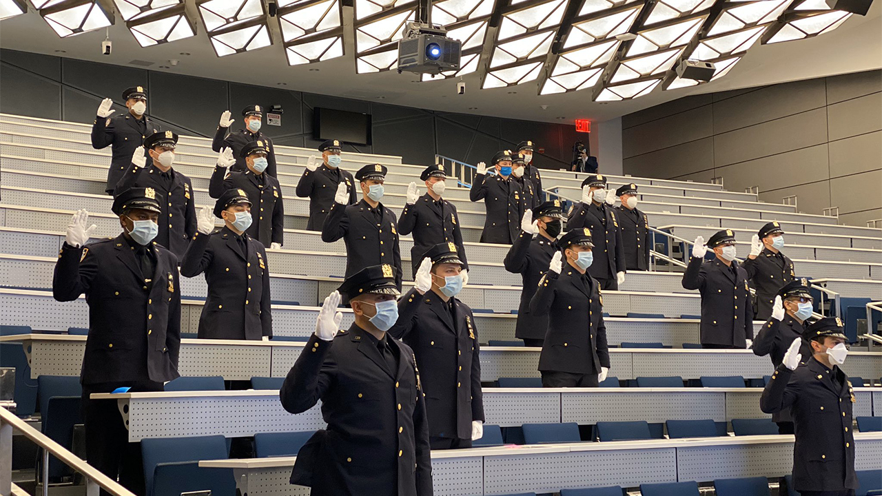 Westlake Legal Group Promotions-Police-NYPD-3 NYPD promotions move forward despite coronavirus, with pared-down ceremony Vandana Rambaran fox-news/us/new-york-city fox-news/us/crime/police-and-law-enforcement fox-news/us fox-news/health/infectious-disease/coronavirus fox news fnc/us fnc ed56d362-ea91-547a-b0c8-bf572904be85 article