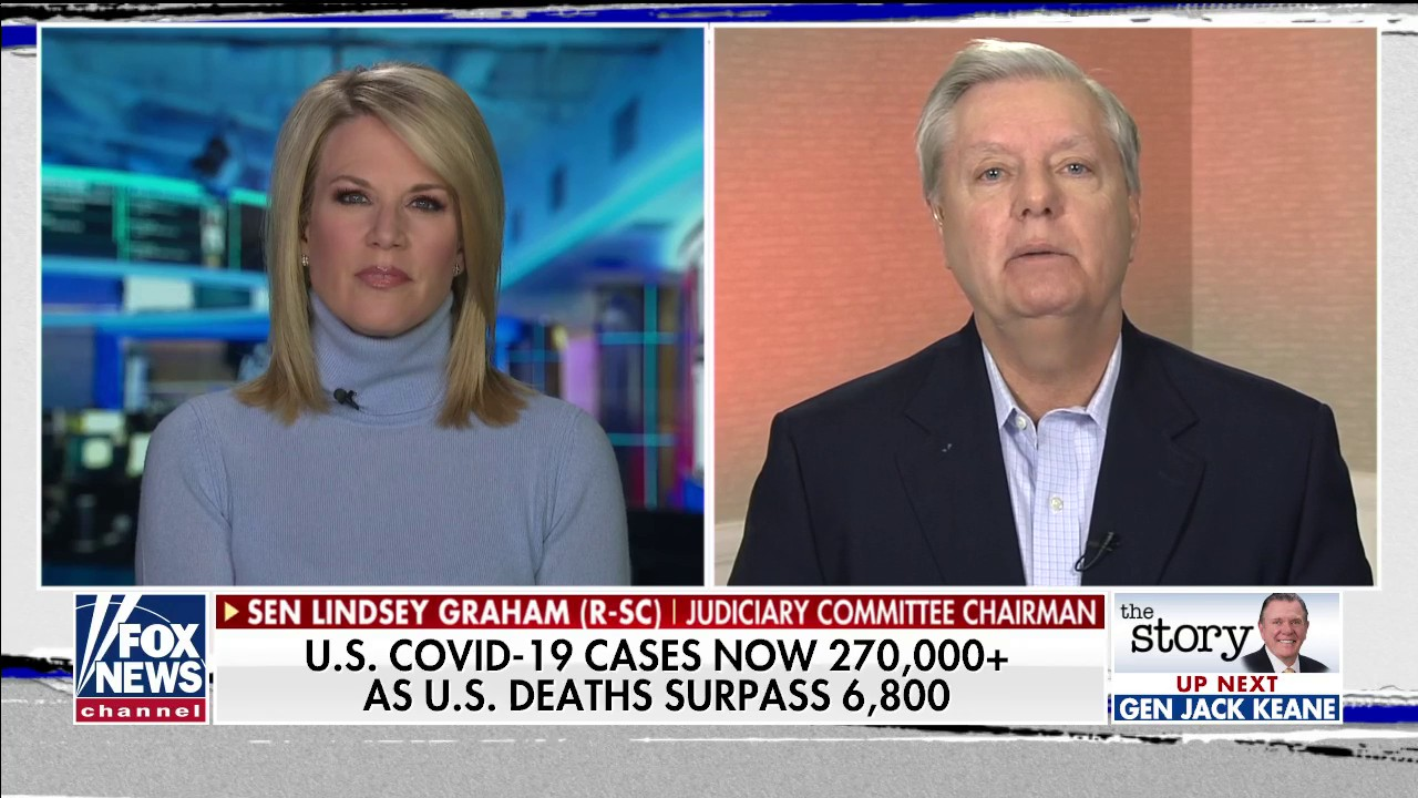 Westlake Legal Group Video-2020-04-03T192843.081 Graham wants Trump to demand Xi 'crack down' on Chinese wet markets: 'Stop eating bats' fox-news/world/world-regions/china fox-news/shows/the-story fox-news/person/lindsey-graham fox-news/person/donald-trump fox-news/media/fox-news-flash fox-news/media fox-news/health/infectious-disease/coronavirus fox news fnc/media fnc Charles Creitz article 2731c31f-b7f4-5bcd-9ecf-62e0068fe693