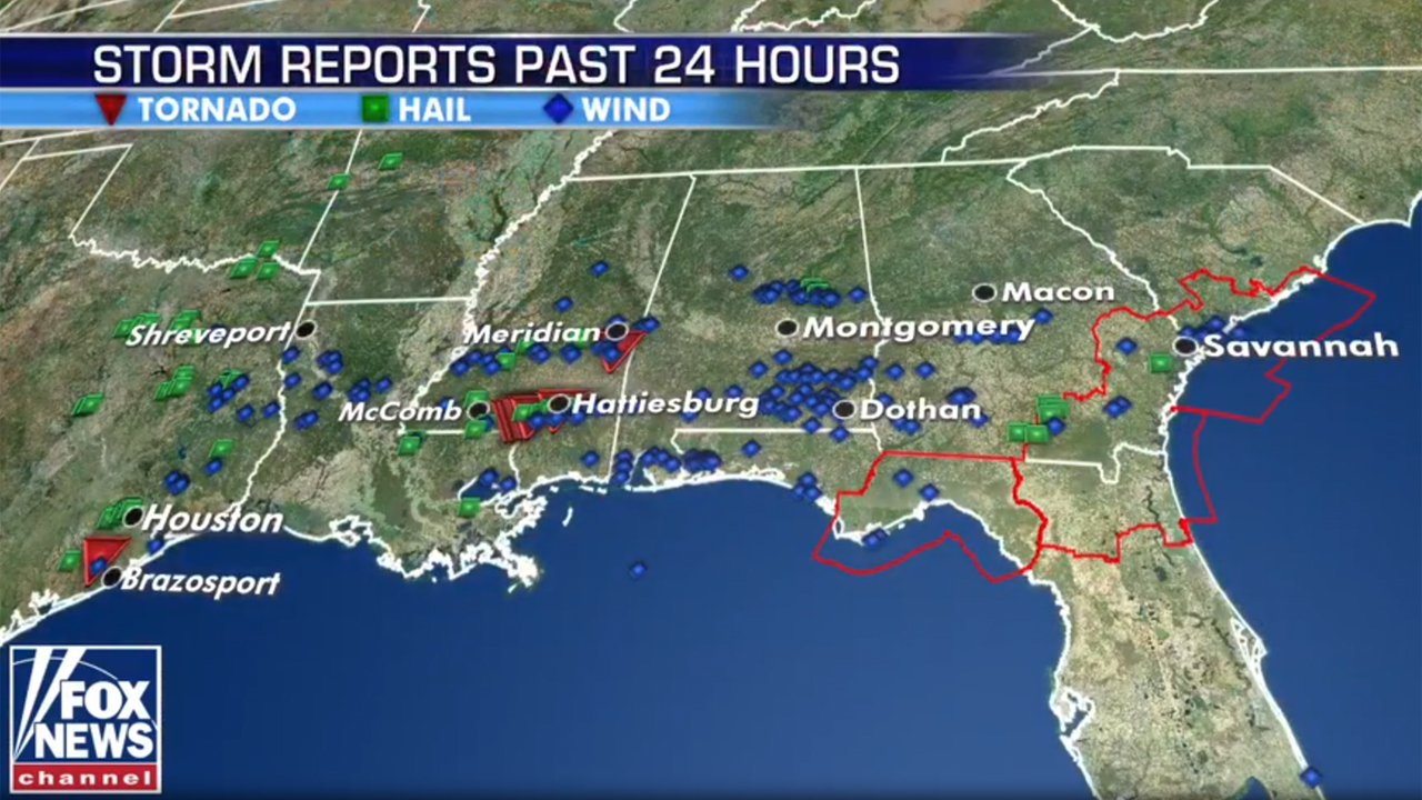 Severe storms leave deadly mark on South as tornadoes reported, thousands without power