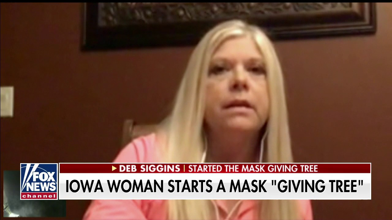 Westlake Legal Group giving-tree Iowa woman sets up 'giving tree' of face masks on family farm amid pandemic Talia Kaplan fox-news/us/us-regions/midwest/iowa fox-news/us/personal-freedoms/america-together fox-news/shows/fox-friends-first fox-news/media/fox-news-flash fox-news/health/infectious-disease/coronavirus fox news fnc/media fnc bc932ec9-8121-5e30-9915-0d8dc10ec170 article