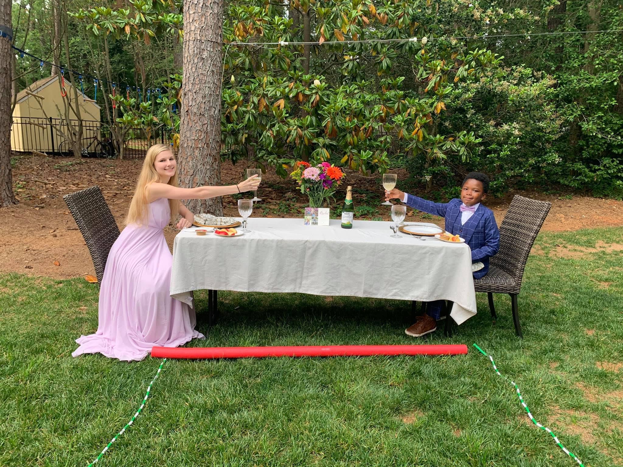 7-year-old throws personal prom for babysitter after hers was canceled thumbnail