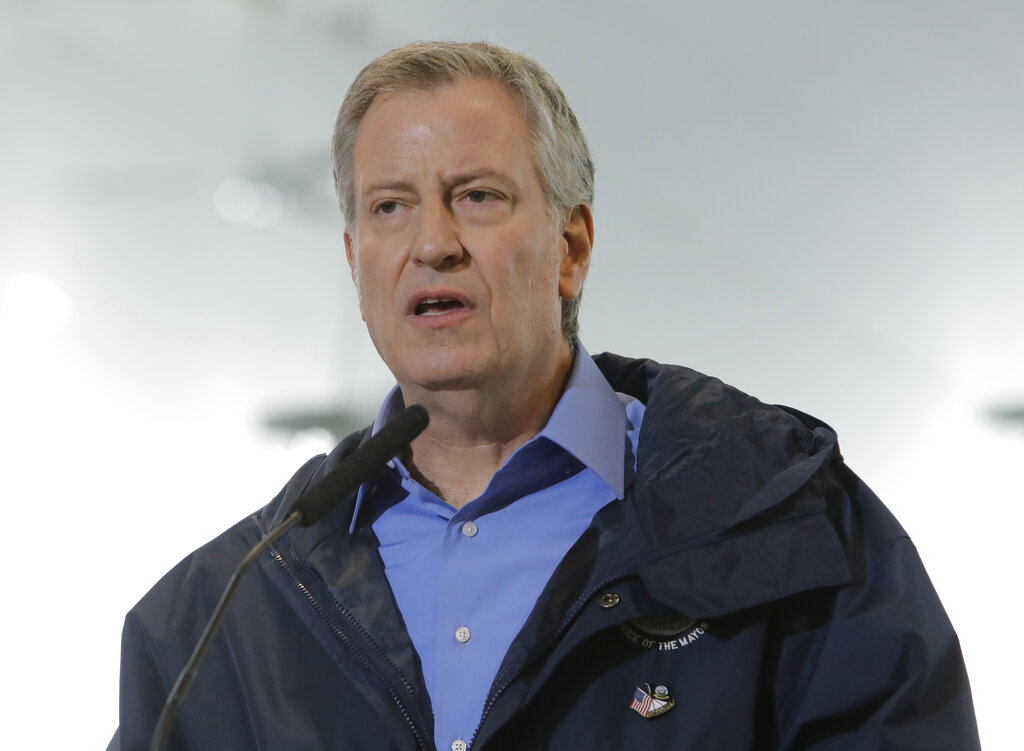 Westlake Legal Group AP20122055251697-1 NYPD sergeant's union shoots back at de Blasio after mayor asks for 'light touch' with protesters Peter Aitken fox-news/us/new-york-city fox-news/us/crime/police-and-law-enforcement fox-news/us fox-news/person/george-floyd fox-news/person/bill-de-blasio fox news fnc/us fnc article 6935ed52-fdee-530b-b38e-285630d6f7a7