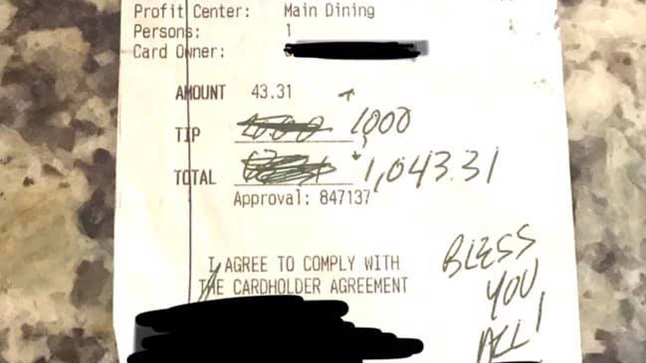 North Carolina restaurant receives $1,000 tip on reopening day: 'There's so much kindness in this world'