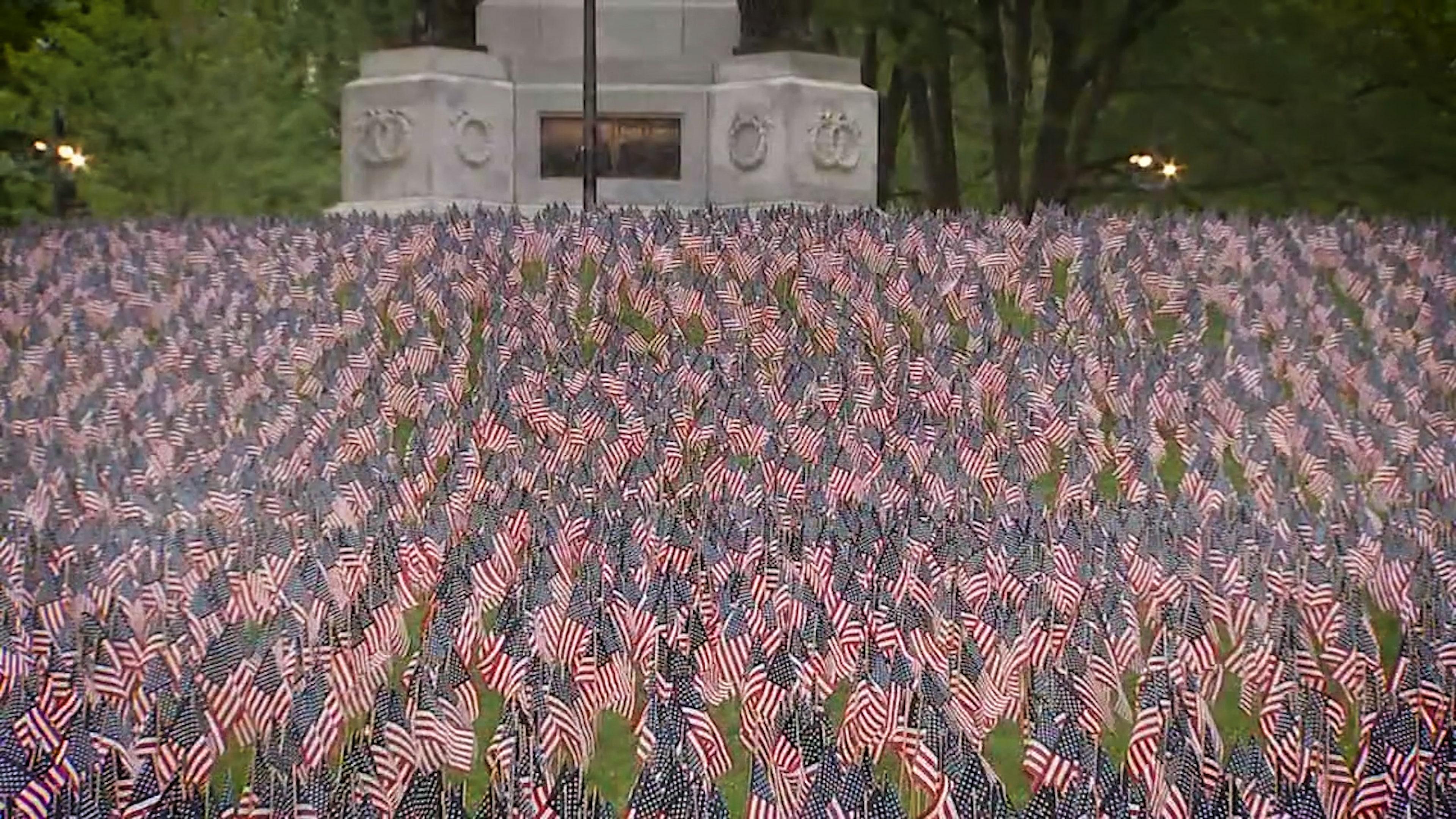 Boston's Memorial Day flag garden tradition lives on despite pandemic