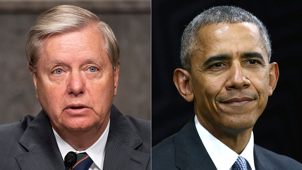 Westlake Legal Group lindsey-graham-barack-obama-AP-REUTERS Lindsey Graham on why he's not in favor of calling Obama to testify Julia Musto fox-news/world/world-regions/russia fox-news/us/crime fox-news/topic/fox-news-radio fox-news/tech/topics/fbi fox-news/politics/trump-impeachment-inquiry fox-news/politics/justice-department fox-news/politics/executive/national-security fox-news/politics/executive/law fox-news/politics fox-news/person/william-barr fox-news/person/robert-mueller fox-news/person/lindsey-graham fox-news/person/donald-trump fox-news/person/barack-obama fox-news/person/adam-schiff fox-news/news-events/russia-investigation fox-news/media/fox-news-flash fox news fnc/media fnc article 72a62c94-bb49-5bc2-b780-75ce6cbe5671