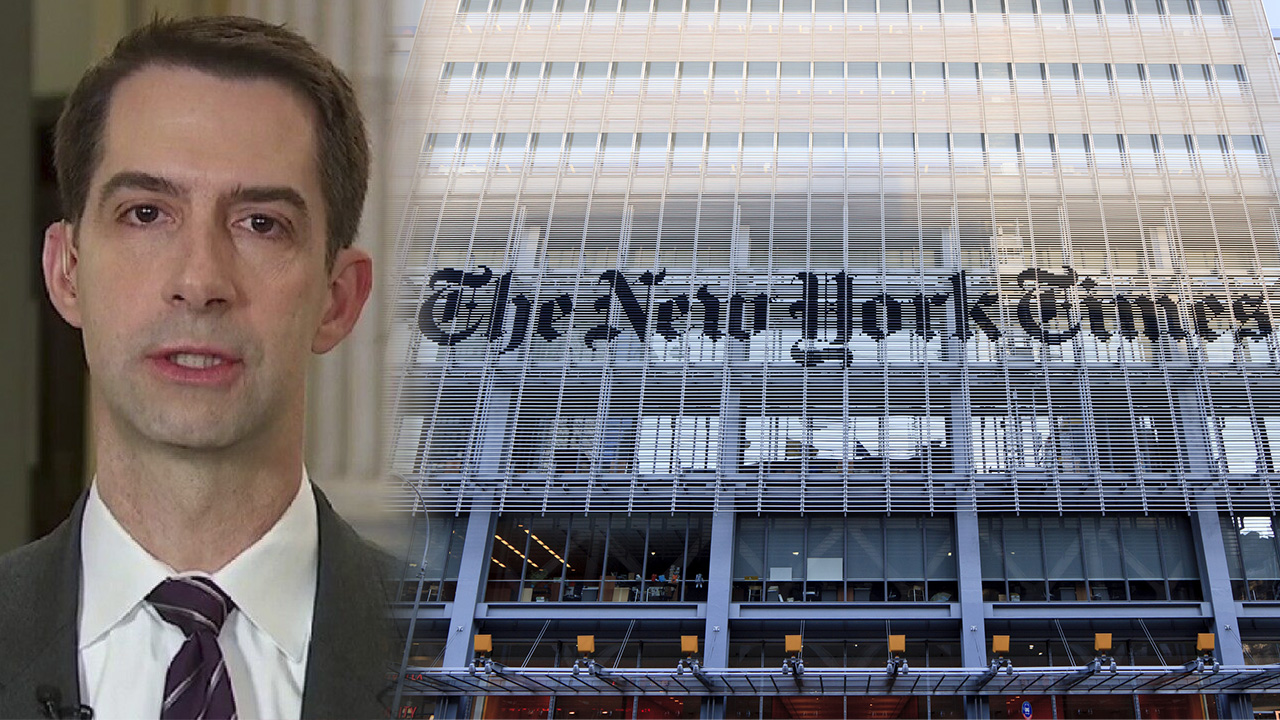 NY Times writers in 'open revolt' after publication of Cotton op-ed, claim black staff 'in danger'