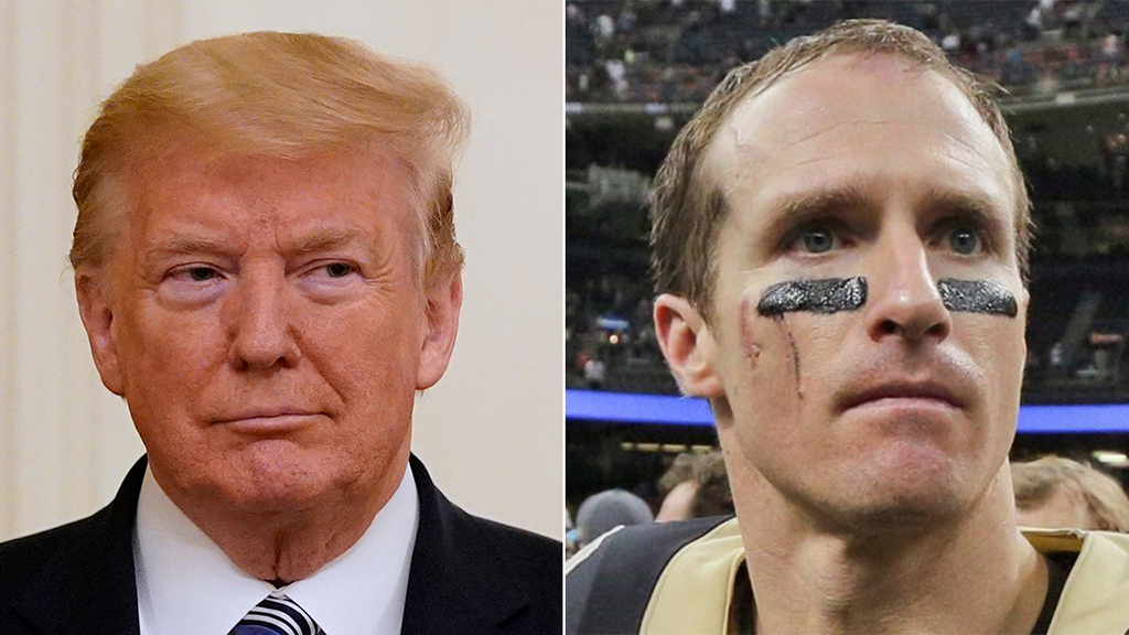 Trump criticizes Saints