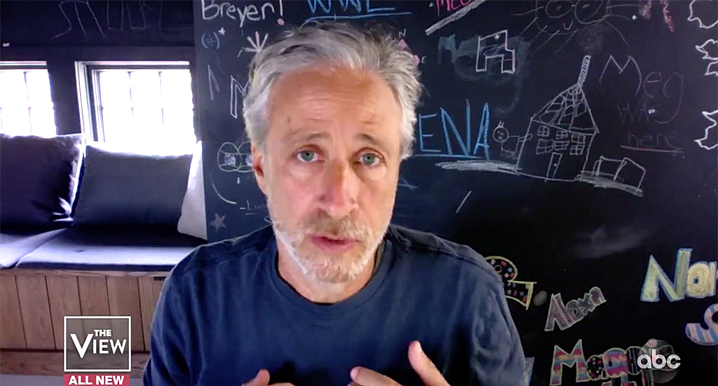 Jon Stewart calls Trump the 'greatest agent of chaos' in America during appearance on 'The View'
