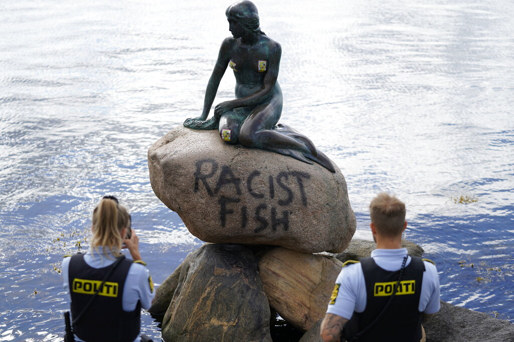 Denmark's Little Mermaid statue vandalized with 'racist fish' grafitti – Fox News