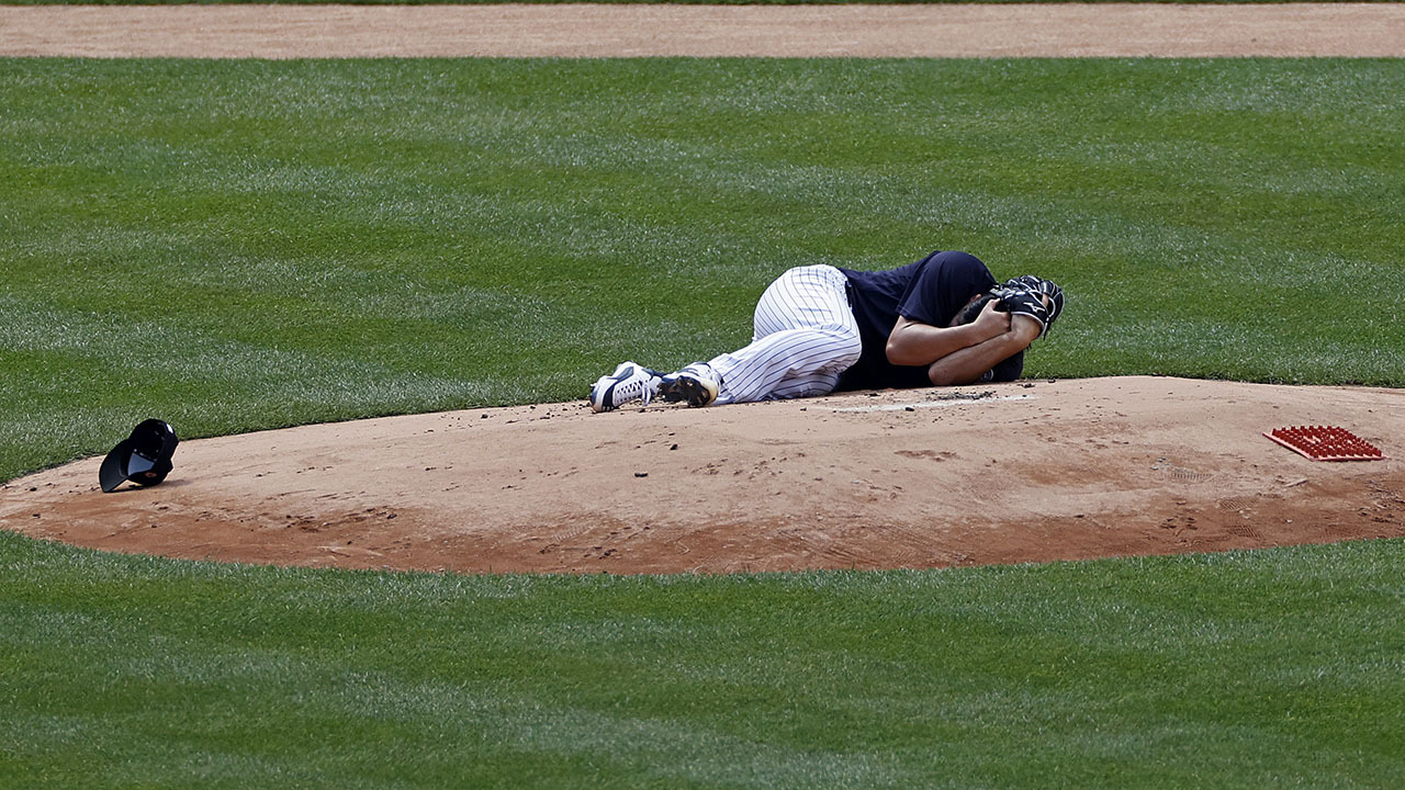 Yankees pitcher Masahiro Tanaka 'all good' after hit in head by line drive - fox