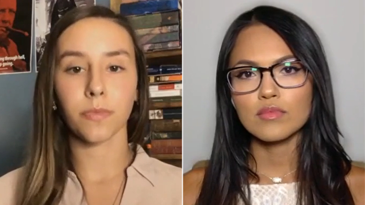 Young conservative women who went viral for standing up to liberal mob say they've received death threats