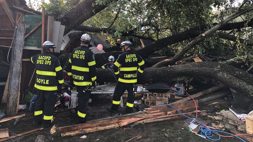 Tree falls on Maryland garage during 'very brief' storm, 19 sent to hospitals - Fox News