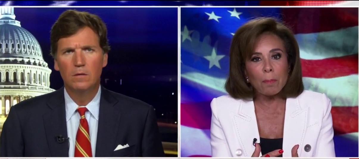 Westlake Legal Group image-19 Judge Jeanine rips 'bozo de Blasio' over NYPD budget cuts: 'This is the end of New York City' Yael Halon fox-news/us/new-york-city fox-news/us/crime/police-and-law-enforcement fox-news/shows/tucker-carlson-tonight fox-news/person/bill-de-blasio fox-news/media/fox-news-flash fox news fnc/media fnc article 4e6f386b-43b1-528d-9241-b3a448d2636a