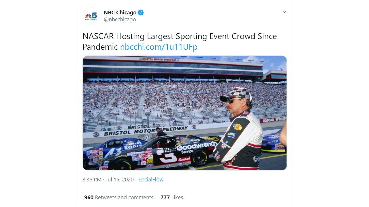 NBC affiliate deletes tweet featuring Dale Earnhardt Sr. after NASCAR fans complain - fox
