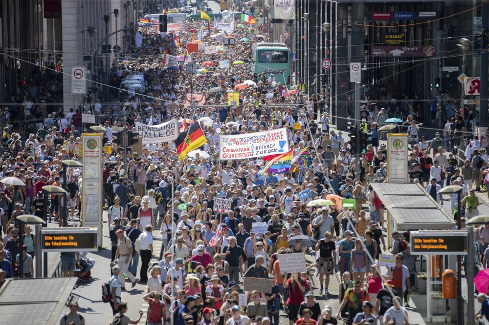 Thousands gather for 'end of the pandemic' protest in Berlin ignore coronavirus safety measures – Fox News