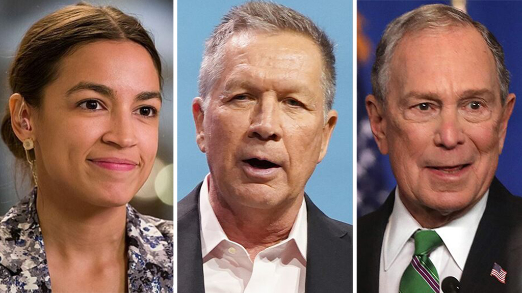 Progressives blast DNC for giving AOC just 60 seconds at convention but more time to Kasich, Bloomberg